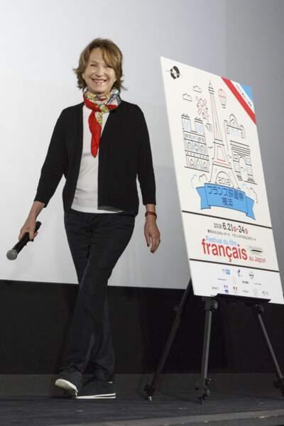 """Nathalie Baye lors d'une conférence de presse pour le court-métrage """"Thomas"""" au Festival du film Français au Japon"""
