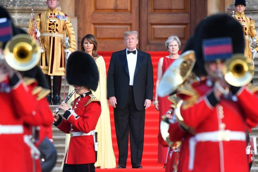 Donald Trump et son épouse sont arrivés à Londres jeudi 12 juillet.
