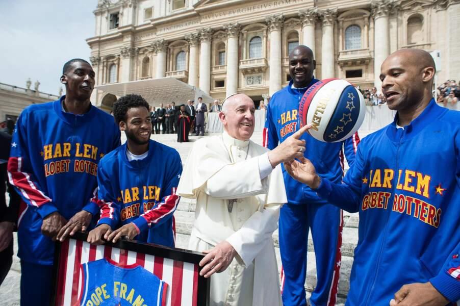 Avec les Harlem Globetrotters Basketball