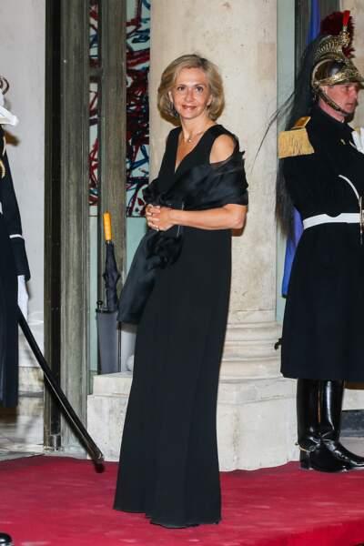 Valérie Pécresse portait une longue robe noire chic pour ce dîner d'État à l'Élysée