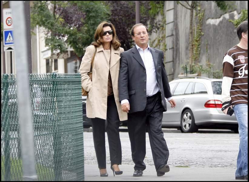 François Hollande et Valérie Trierweiler en 2008