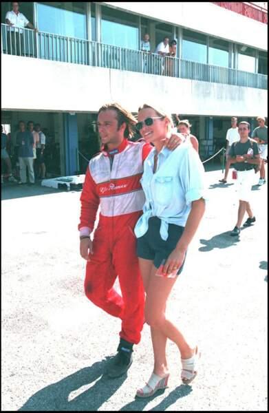 David Hallyday et Estelle Lefébure aux courses au Castellet