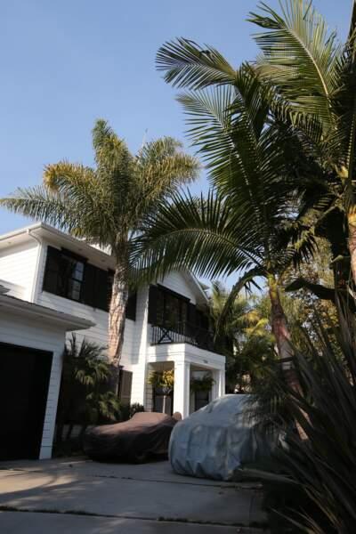 La villa de Johnny Hallyday dans le quartier de Pacific Palisades à Los Angeles le 6 décembre 2017