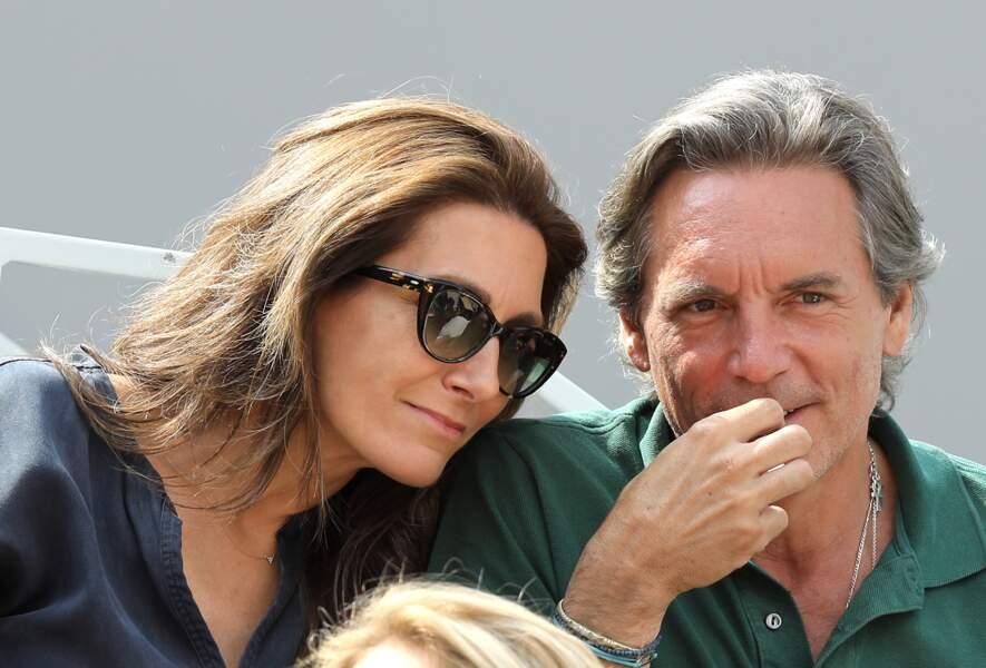 La journaliste Anne-Claire Coudray et son mari Nicolas Vix à Roland Garros, le 3 juin 2019.