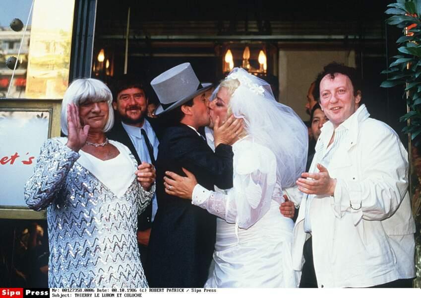 Coluche et Thierry Le Luron se moquent du mariage