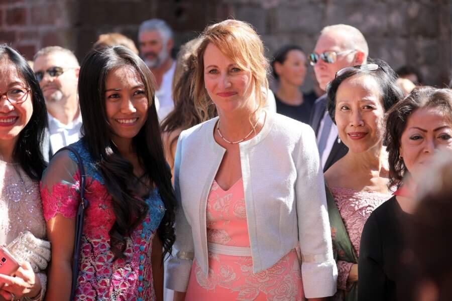 Ségolène Royal au Mariage de Thomas Hollande et Émilie Broussouloux à Meyssac le 8 septembre 2018