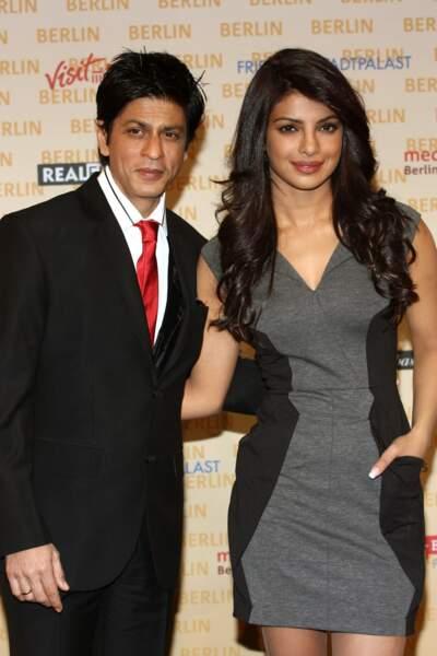 """Shahrukh Khan et Priyanka Chopra en 2010 à Berlin pour la présentation du film """"Don 2"""""""