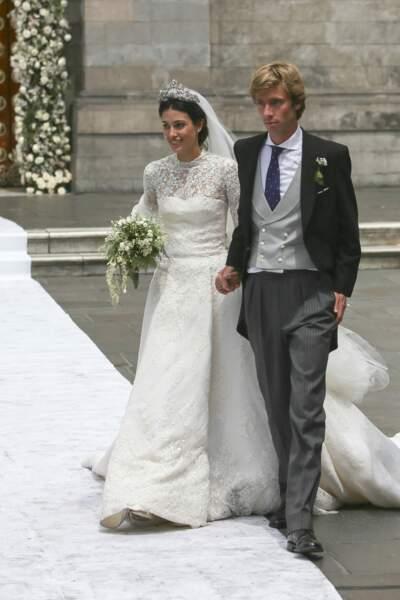 Alessandra de Osma (en robe Jorge Vazquéz) et Christian de Hanovre lors de leur mariage le 16 mars 2018 à Lima