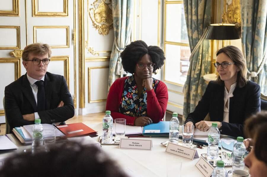 Sibeth Ndiaye, nouvelle porte-parole du gouvernement, à l'Elysée, ce 1er avril 2019