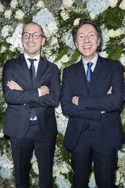 Stéphane Bern et son compagnon Lionel Bounoua au dîner du Sidaction