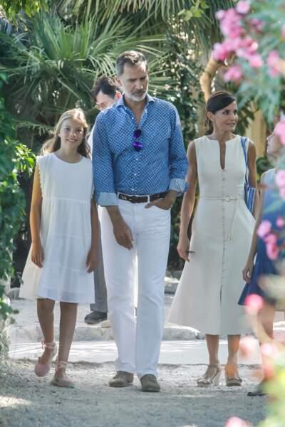 Letizia et Felipe d'Espagne ont profité d'une journée en famille à Majorque