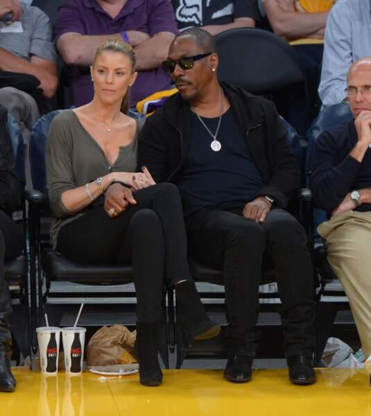 Eddie Murphy et sa compagne Paige Butcher à un match des Lakers