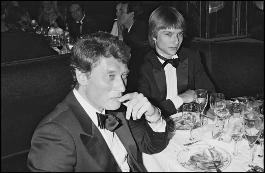 Johnny et David Hallyday en 1983 à Paris