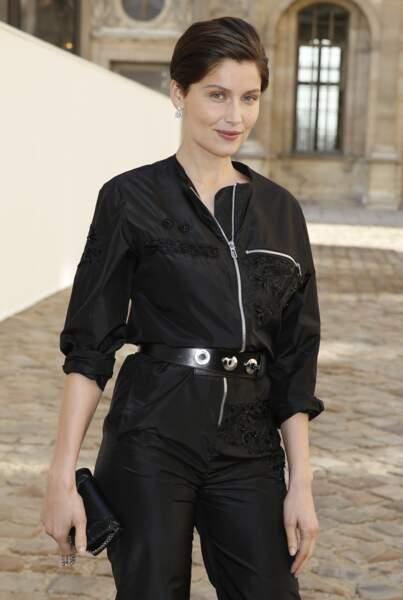 Laetitia Casta au défilé Christian Dior à Paris le 6 mars 2015