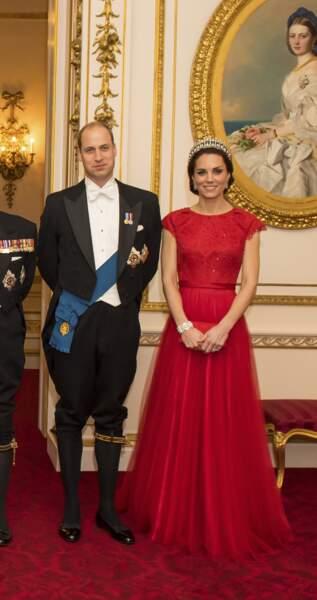 Le couple princier à Londres en décembre 2016