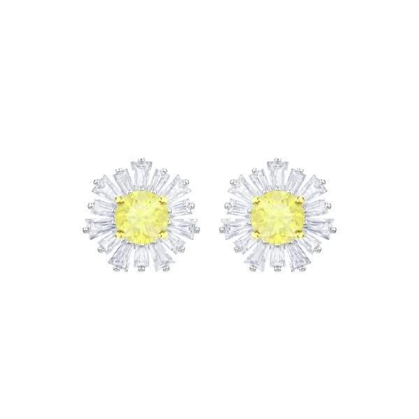 Boucles d'oreilles Sunshine en métal Rhodié, 89 €, Swarovski