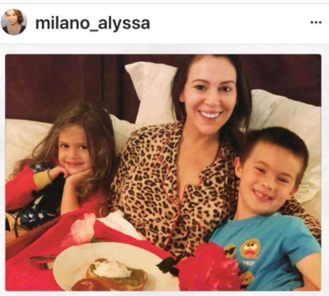 Alyssa Milano et ses enfants