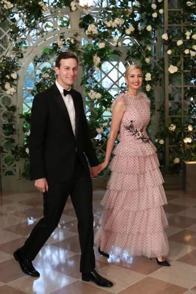 Ivanka Trump et son mari Jared Kushner, tout sourire