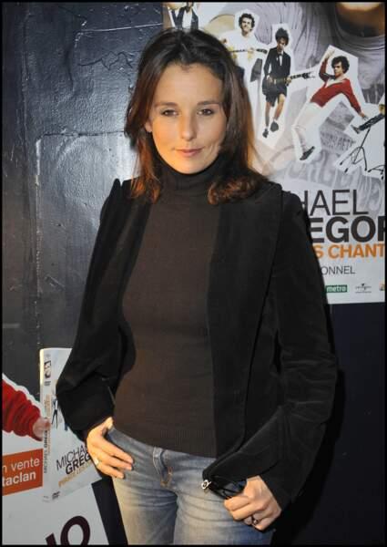 Faustine Bollaert tout au naturel à Paris le 21 octobre 2010