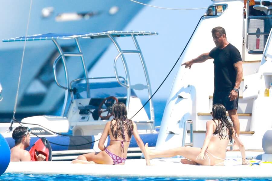 Stallone, surveillant de baignade
