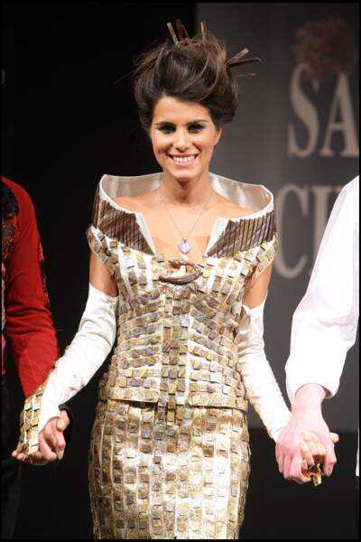 Karine Ferri lors du défilé du Salon du Chocolat à Paris en 2007