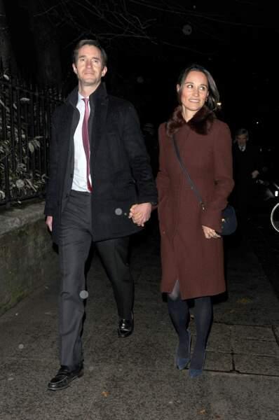 Pippa Middleton et son époux James Matthews, arrivant à l'église St Luke de Londres, le 4 décembre 2018