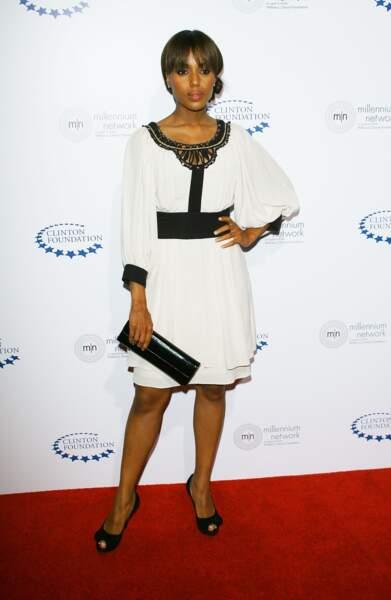 Kerry Washington en avril 2009 ouvre les hostilités mode dans sa petite robe Temperley London