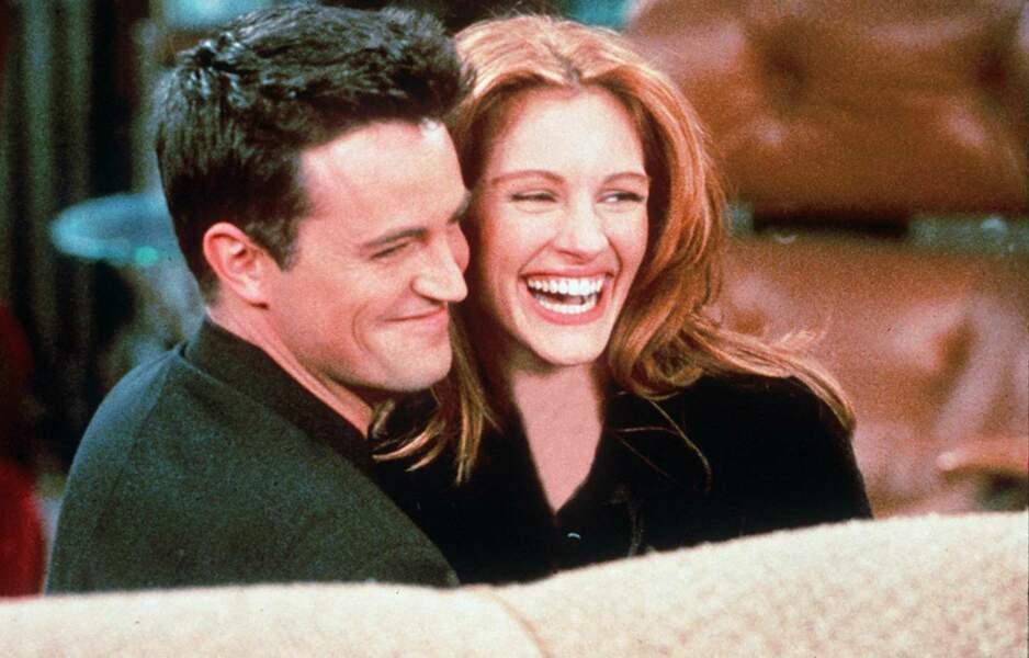 Matthew Perry et Julia Roberts en 1996