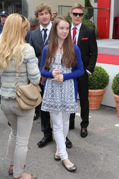La princesse Alexandra de Hanovre au Grand Prix de Formule 1 de Monaco le 25 mai 2014