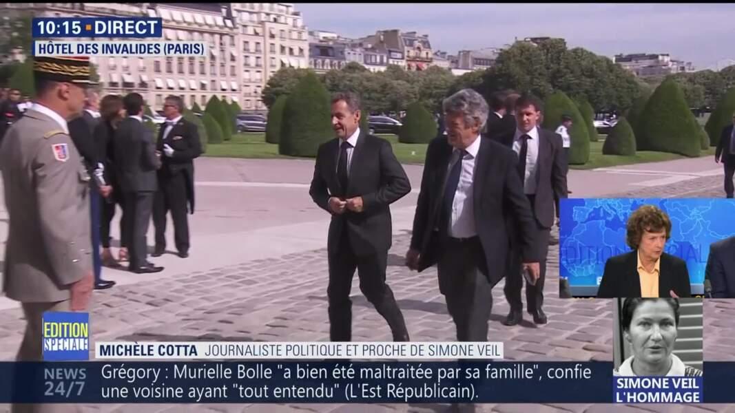 Obsèques de Simone Veil : l'ancien président Nicolas Sarkozy