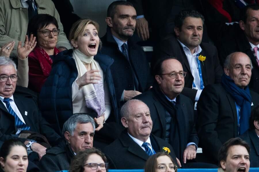 François Hollande et sa compagne Julie Gayet, grands supporters des Bleus