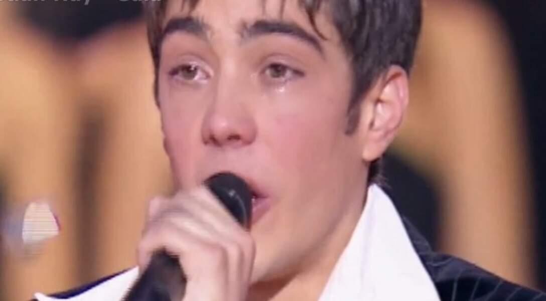 Grégory Lemarchal vainqueur en larmes, moment d'émotion