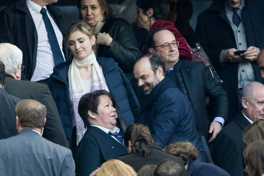 Le Premier ministre Edouard Philippe, François Hollande et sa compagne Julie Gayet