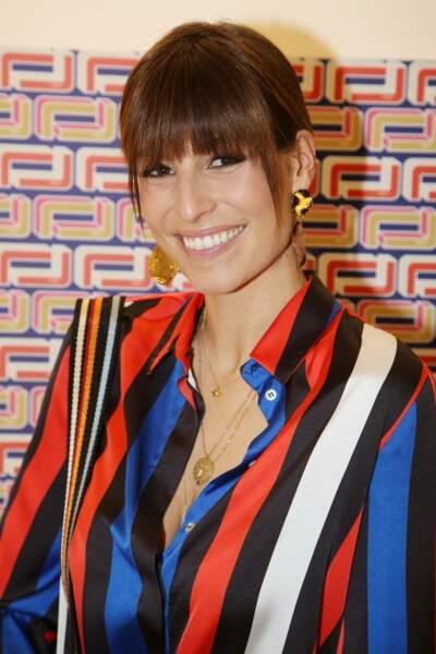 Laury Thilleman, Miss France 2011, à la présentation Lancel, lors de la Paris Fashion Week, le 27 février 2019.