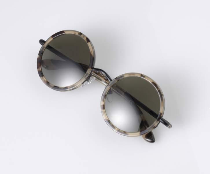 Solaires en métal et acétate motif écaille, Paul & Joe Eyewear - 190€