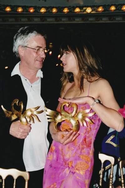 Sophie Marceau et Andrzej Zulawski au festival de Cabourg en juin 2000.