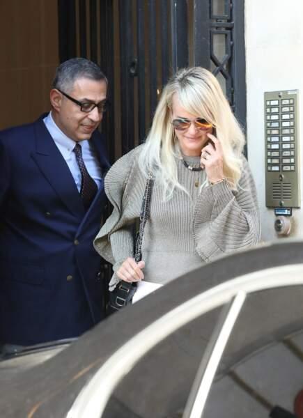 Laeticia Hallyday et son avocat : la veuve de Johnny est arrivée à Paris dimanche 7 octobre