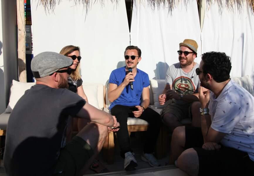 Martin Solveig avec l'équipe de Bruno dans la radio