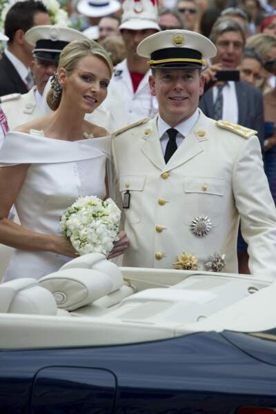 Mariage d'Albert II de Monaco et de Charlene Wittstock le 2 juillet 2011 à Monaco