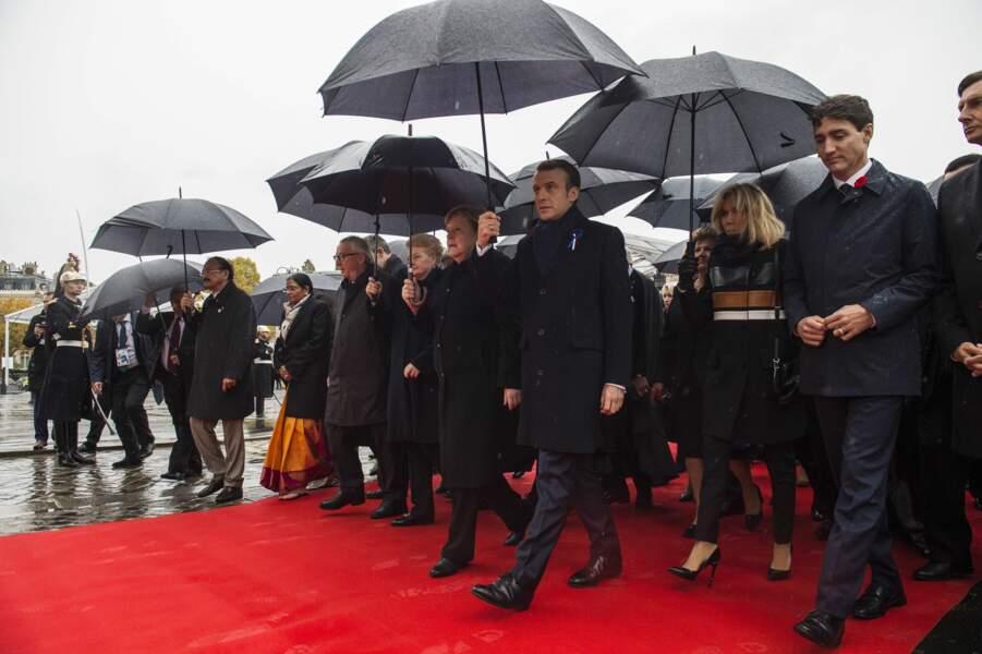 Un hommage pluvieux à Paris le 11 novembre.