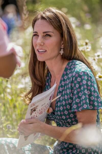 Kate Middleton radieuse en robe d'été