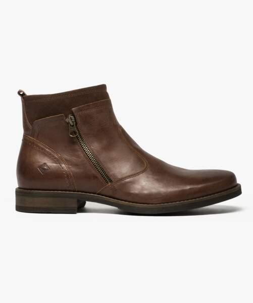Homme : En cuir, 69,99 € (Gemo).