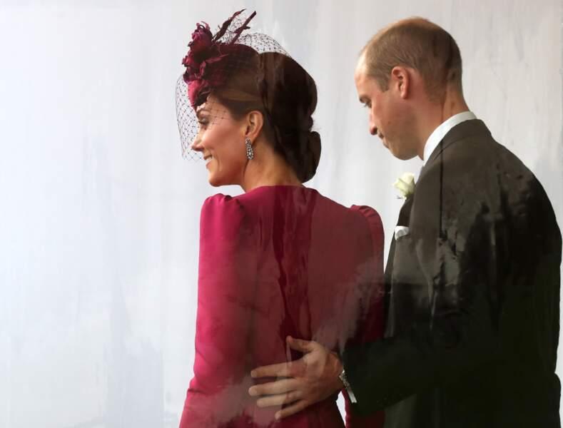 Kate et William lors du mariage de la princesse Eugenie d'York, le 12 octobre 2018 à Windsor