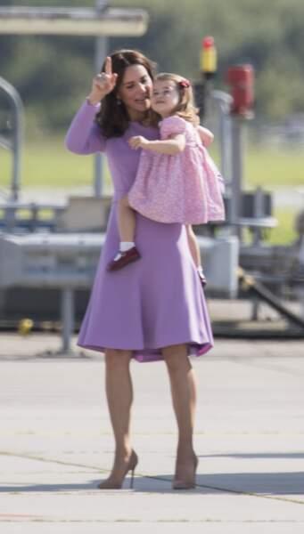 Kate Middleton et sa fille alors âgée de 2 ans !