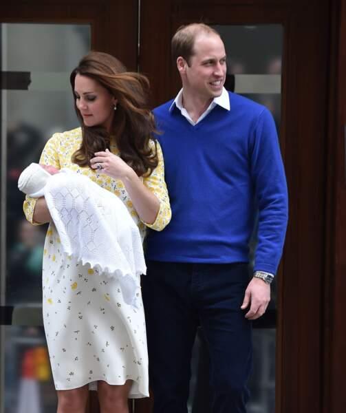 La princesse Charlotte de Cambridge est née le 2 mai 2015, à l'hôpital St-Mary de Londres.