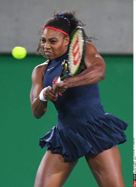 Ultra-puissante, sur les courts Serena Williams n'est pas très avenante