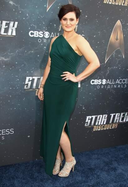 Mary Chieffo à la première de la série Star Trek Discovery à New York, le 19 septembre 2017