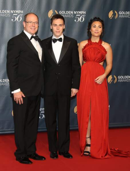 Juin 2016  : Marie Chevallier fait son premier tapis rouge avec le prince Albert II de Monaco et Louis Ducruet