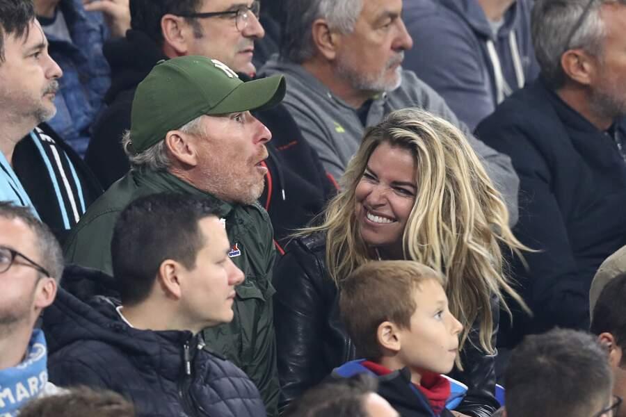 Denis Brogniart et Sophie Tapie durant la finale de la Ligue Europa 2018