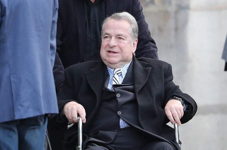 Paul-Loup Sulitzer - Obsèques de Mireille Darc en l'église Saint-Sulpice à Paris. Le 1er septembre 2017